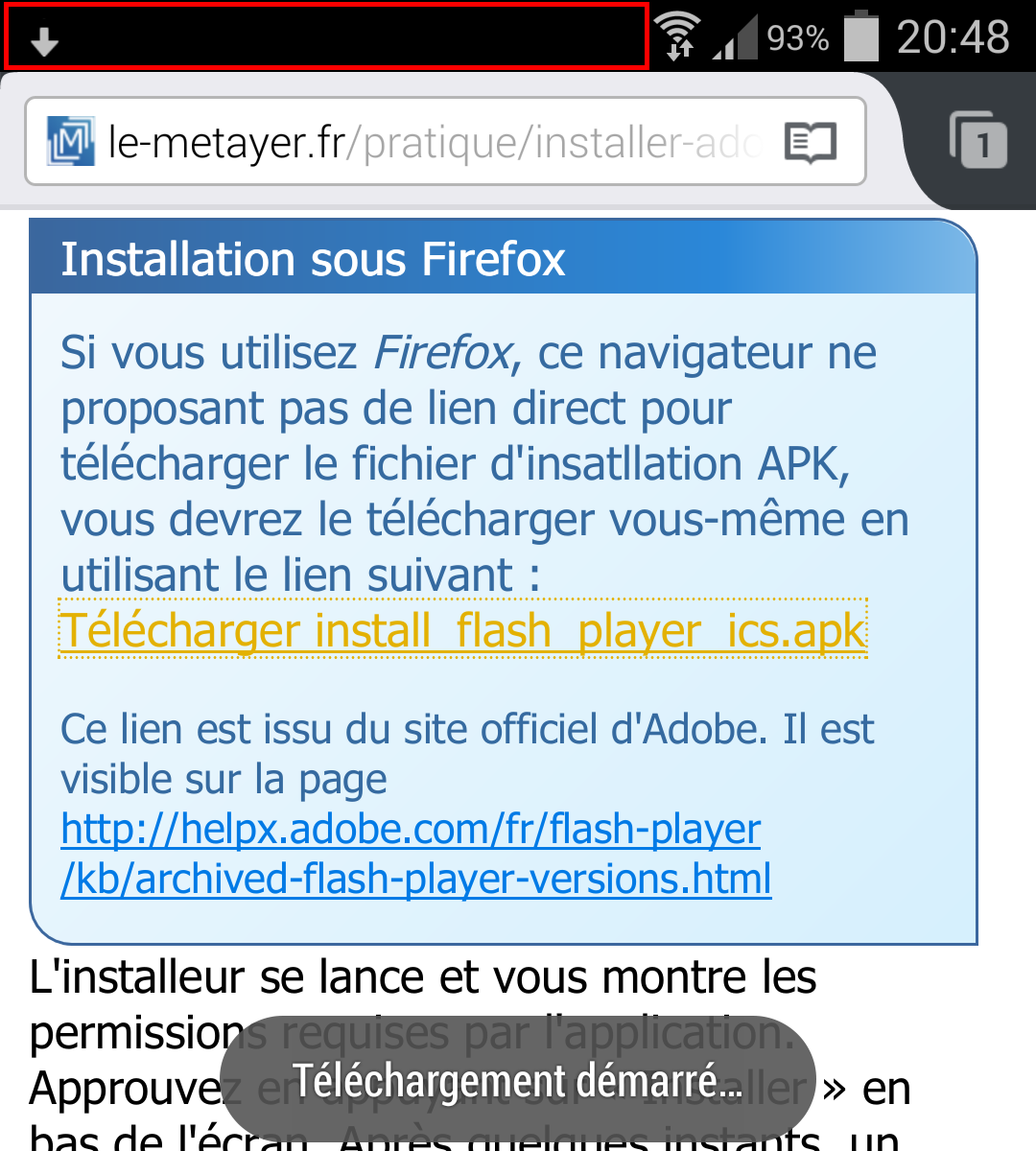 Installer <b>Flash</b> <b>Player</b> <b>sur</b> <b>Android</b> Jelly Bean | Mobile | IT-Connect